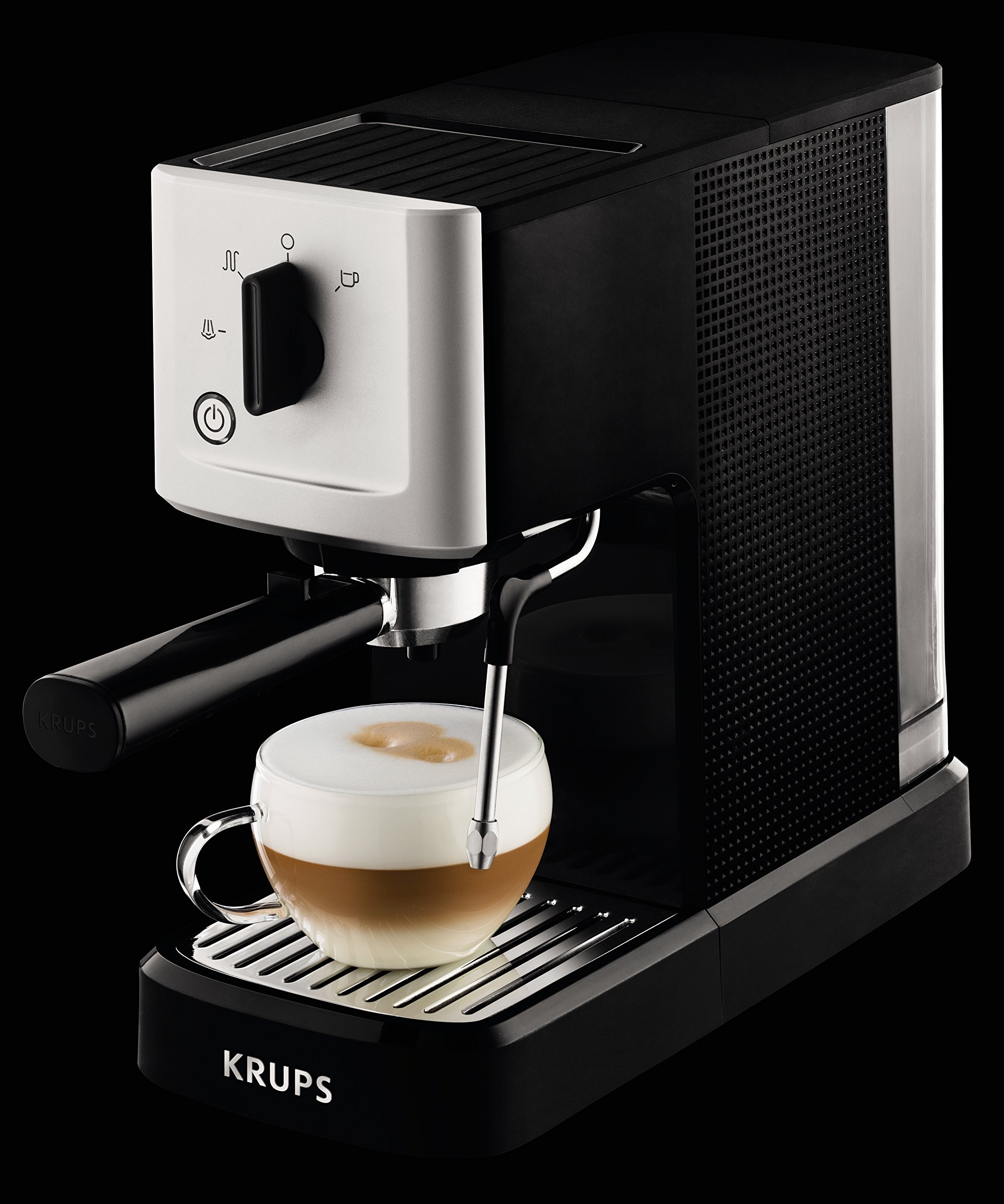 Krups-XP344040-Calvi-Manual-Espresso-Steam-and-Pump-Coffee-Machine-1500-W-Black