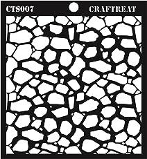 """CrafTreat Stone Background Stencil 6""""X6"""""""