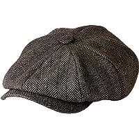 Gamble & Gunn, 'Shelby' Newsboy Cap, berretto in panno grigio a spina di pesce