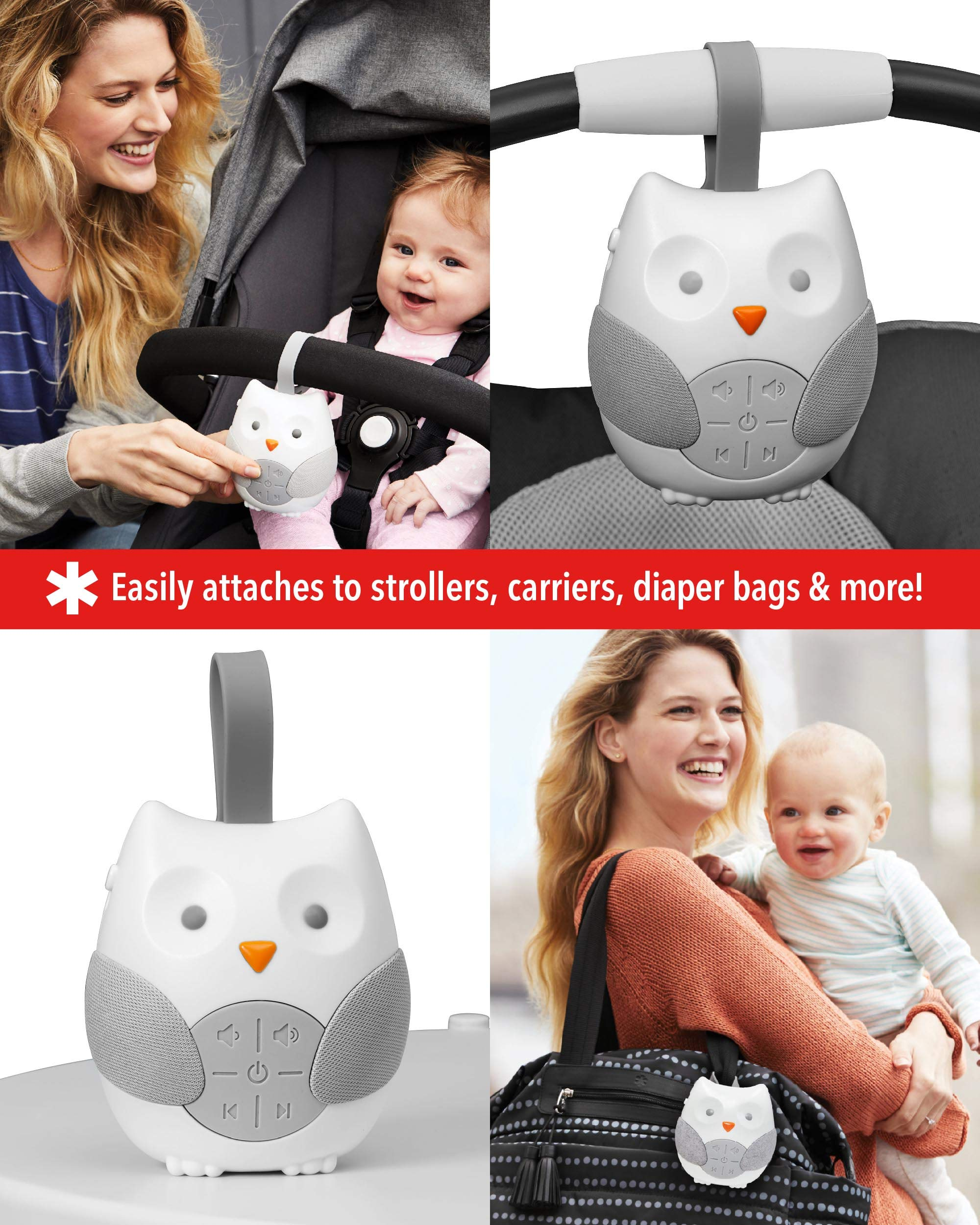 Skip Hop Stroll and Go Portable Baby Soother, Owl 3