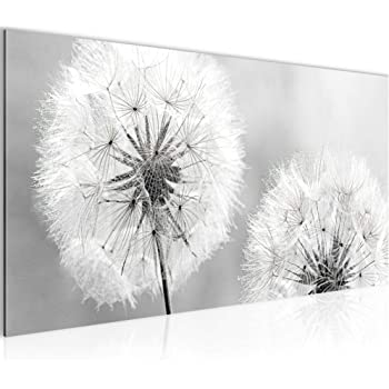 bilder blumen pusteblume wandbild 120 x 80 cm vlies leinwand bild xxl format wandbilder. Black Bedroom Furniture Sets. Home Design Ideas