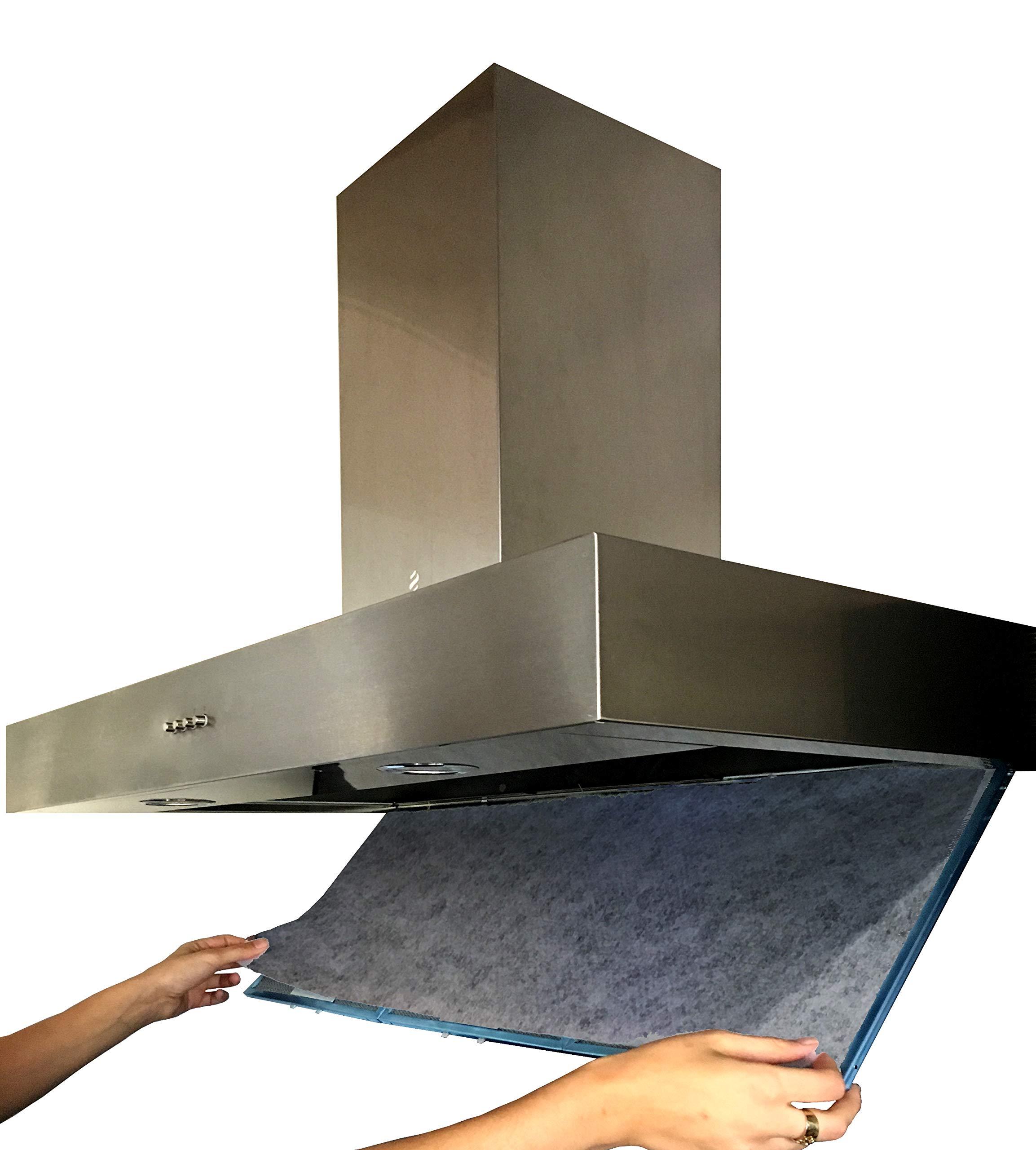 2 Filtri per Cappa Cucina con Carboni Attivi. 2 pezzi 57 x 47 CM.  UNIVERSALE. Ritagliabilie A Misura. ANTIODORE In Fibra Autoestinguente e  Carbone ...