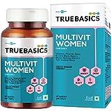 TrueBasics Multivit Women One Daily, Multivitamin for Women, Multiminerals, Anti-Oxidants, with Bone, Joint & Beauty Blend, C