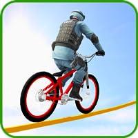 Bicycle Tightrope Racing stunts 2017