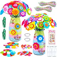 CITSKY Kits De Fleurs Bricolage Vase Art Set Kits D'artisanat Créatif pour Enfants Filles Jouets