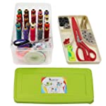 Kurtzy Tailoring Sewing Kit Multipurpose Accessories for Travel with Storage Box