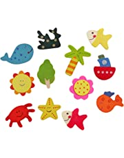 Jiada Nature Themed Fridge Magnets - Pack of 12