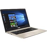 ASUS VivoBook Pro 15 N580VD (90NB0HX1-M02520) 39,6 cm (15,6 Zoll, FHD, WV, Matt) Notebook (Intel Core i7-8750H, 8GB RAM, 256GB SSD, 1TB HDD, NVIDIA GeForce GTX 1050 (4GB), Windows 10) Gold Metal