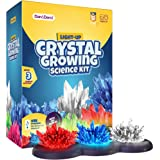 Light-up Crystal Growing Science Lab Set - Crystal Making Chemistry Experiment Kit - Gifts for Kids Age 6 7 8 9 10 & 12 Year
