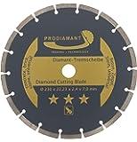 PRODIAMANT - Disco diamantato universale per taglio a secco e bagnato di cemento, pietra, mattoni, Oro