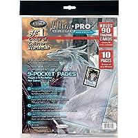 Asmodee Ultra Pro-Paquet de 10 Feuilles de classeur pour Cartes à Collectionner, 81359, Transparent, Unique