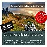 Schottland England Wales Garmin Karte TOPO 4GB microSD. Topografische GPS Freizeitkarte für Fahrrad Wandern Touren Trekking Geocaching & Outdoor. Navigationsgeräte, PC & MAC