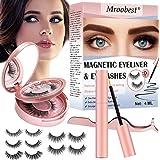 Pestañas Postizas Magneticas, Pestañas Magneticas Delineador, Magnetic Eyeliner, Impermeable y no requiere pegamento. Juego d