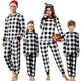 Akalnny Pijamas Familiares de Navidad 2 Piezas Niños Niña Ropa de Dormir para Bebés Mamá Papá
