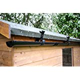 Hall's Rainsaver 6ft Guttering Kit with Flexible Downpipe, Black
