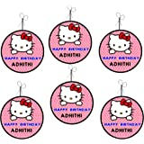 WoW Party Studio Personalized Hello Kitty Theme Birthday Party Ceiling Hangings / Danglers with Birthday Boy/Girl Name (12Pcs