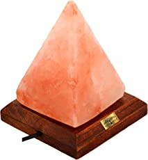ALL NATURALS Salt LAMP Pyramid Shape Unique Diwali Gift 7-INCH Height 2-3 KG(ON/Off Wire & Spare Bulb), Natural AIR Purifier, for VASTU, Healing, Peace & Harmony