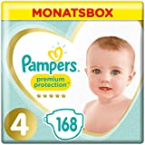 Pampers Premium Protection Größe 4, 9–14 kg, 168 Windeln, Monatsbox