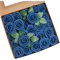 Roqueen 25 Pezzi Fiori Rosa Artificiali Rose Schiuma Finte con Steli per DIY Nozze Nuziale Mazzo Centrotavola…