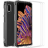 ivoler Funda para Samsung Galaxy Xcover Pro con 3 Unidades Cristal Templado, Carcasa Protectora Anti-Choque Transparente, Sua