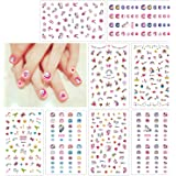 HOWAF Unicornio 3D uñas calcomanías autoadherentes Calcomanía Nail Art Pegatinas Nail Sticker para niños niñas Regalo 400+ di