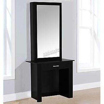 reputable site e05a2 01165 Hobson Oak Dressing Table & Stool Set Makeup Vanity Desk ...