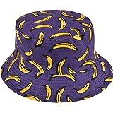 Voqeen Cappello Pescatore Pieghevole, Bucket Hat Cotone Protezione del Sole Cappello Cappello da Pescatore, Faccia Sorridente