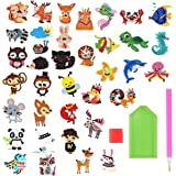 NATUCE 37 Pièces Broderie Diamant pour Enfant DIY Autocollants de Diamant Kits Animale Peinture avec Diamants pour Les Enfant