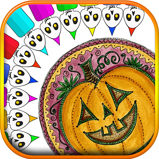 Halloween Mandala Coloring Book