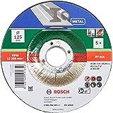 Bosch 5Disque à tronçonner (pour le métal, convient aux meuleuses angulaires portatives dont le diamètre des disques à tronç