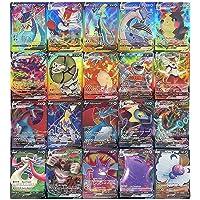 100 Cartes Pokémon, Cartes de Jeu de Dessin Animé pour Enfants Cartes à Collectionner GX, y Compris 20GX + 20Mega…