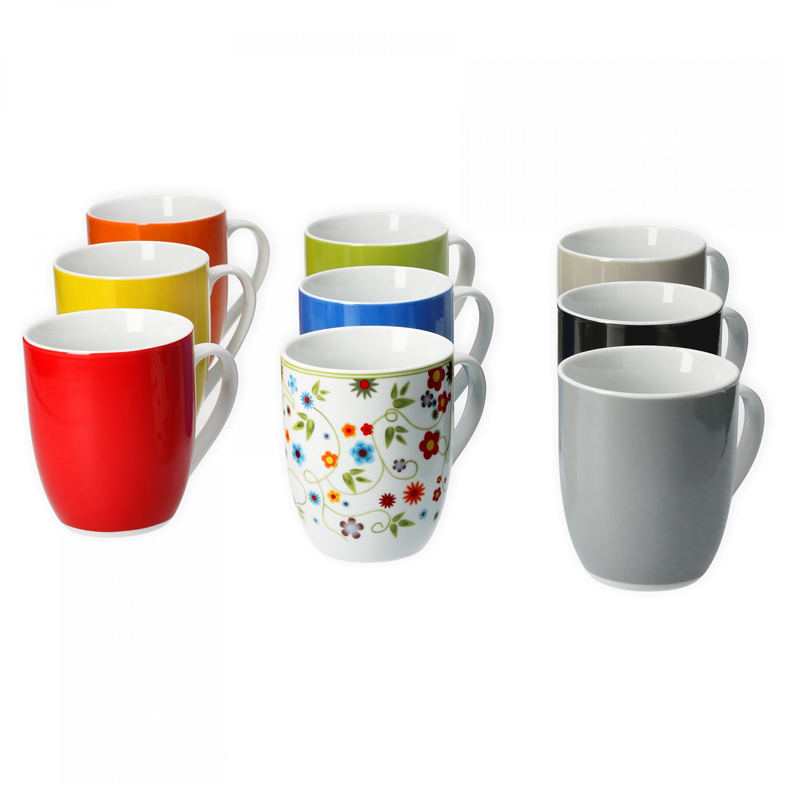 Van Well 6er Set Kaffeebecher Serie Vario Porzellan Farbe