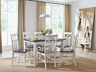 Massivum Caprera Tischgruppe, Holz, Weiß, 80 X 120 X 74 Cm
