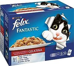 Purina Felix Fantastic Festín de Carnes en Gelatina - Paquete de 12 x 100 g - Total: 1200 g