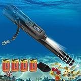 FYBFUP Portátil Detector de Metales Pinpointer - Pantalla LCD IP68 Impermeable 12 Metros Submarino para Niños y Adultos Detec