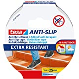tesa Antisliptape, goede grip op glibberige vloeren, sterke kleefkracht, helpt ongelukken voorkomen, transparant, 5m x 25mm