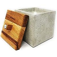 WOWOCON | 12x12x12cm | Betonfeuer | Kerzenfresser | Wachsfresser mit Dauerdocht | Tischfeuer mit Wachsresten zum…
