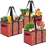 Foraineam 3 Stück Einkaufstasche Faltbar Groß Einkaufskorb Wiederverwendbar Einkaufstüten für Lebensmittel Gemüse Picknick -