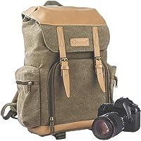 TARION Kamerarucksack Fotorucksack Wasserdichte Kameratasche Canvas Leinenstoff Vintage Kamera Rucksack für…