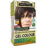 INDUS VALLEY Natural Gel Colour For Hair (Shade 4.0, Medium Brown) - (200ml+20gm)