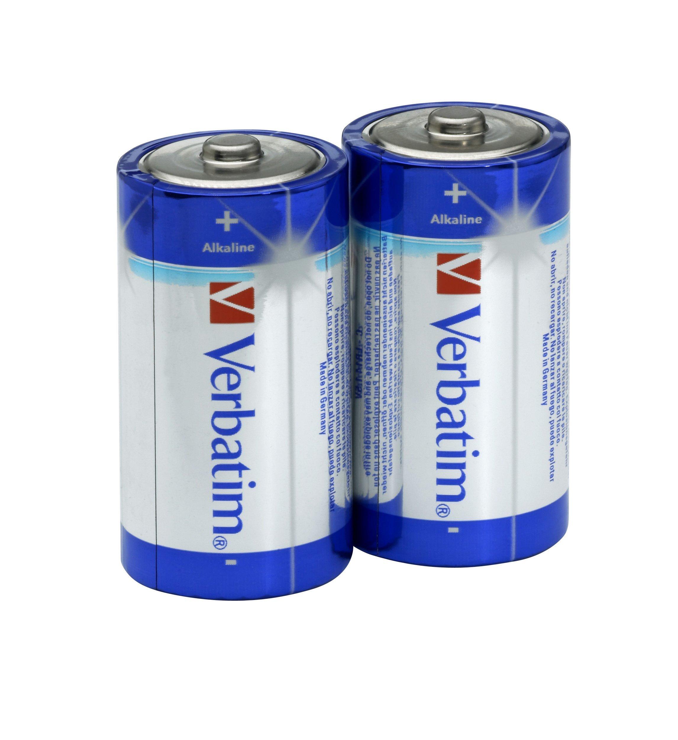 Verbatim Pila 1/2Torcia C Alkalina Bl.2 Pile