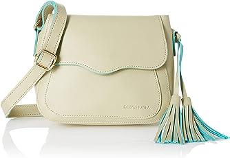 Kanvas Katha Women's Sling Bag (Beige) ()