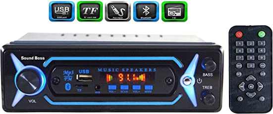 Sound Boss SB-2032 Car FM/USB/SD/AUX/Bluetooth Player