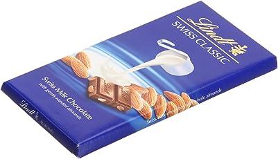Lindt Swiss Classic Bar Chocolate, Almond, 100g