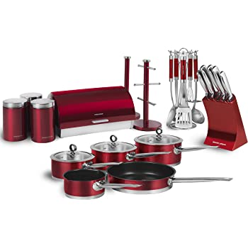 Morphy Richards Rmlbundle Accents 21 Piece Kitchen Set Red