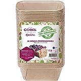 GOBEL - Pack de 50 Moules Professionnels Mini-Cakes - Moules Jetables en Papier Naturel 100 % Biodégradable - Adaptés au Four