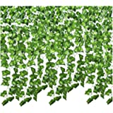 SMALUCK 24 Pack 168 Ft Artificial Ivy Garland Fake Ivy Vine Hanging Plant for Christmas Decorations Wedding Garland Fake…