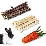 Barley Ears - Juguete masticable para los molares para conejito, hámster, loro, chinchilla, conejillo de indias, jerbo con pa