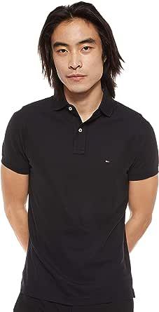 Tommy Hilfiger Men's CORE Hilfiger Slim Polo Shirt, Blue (Sky Captain 403), Large