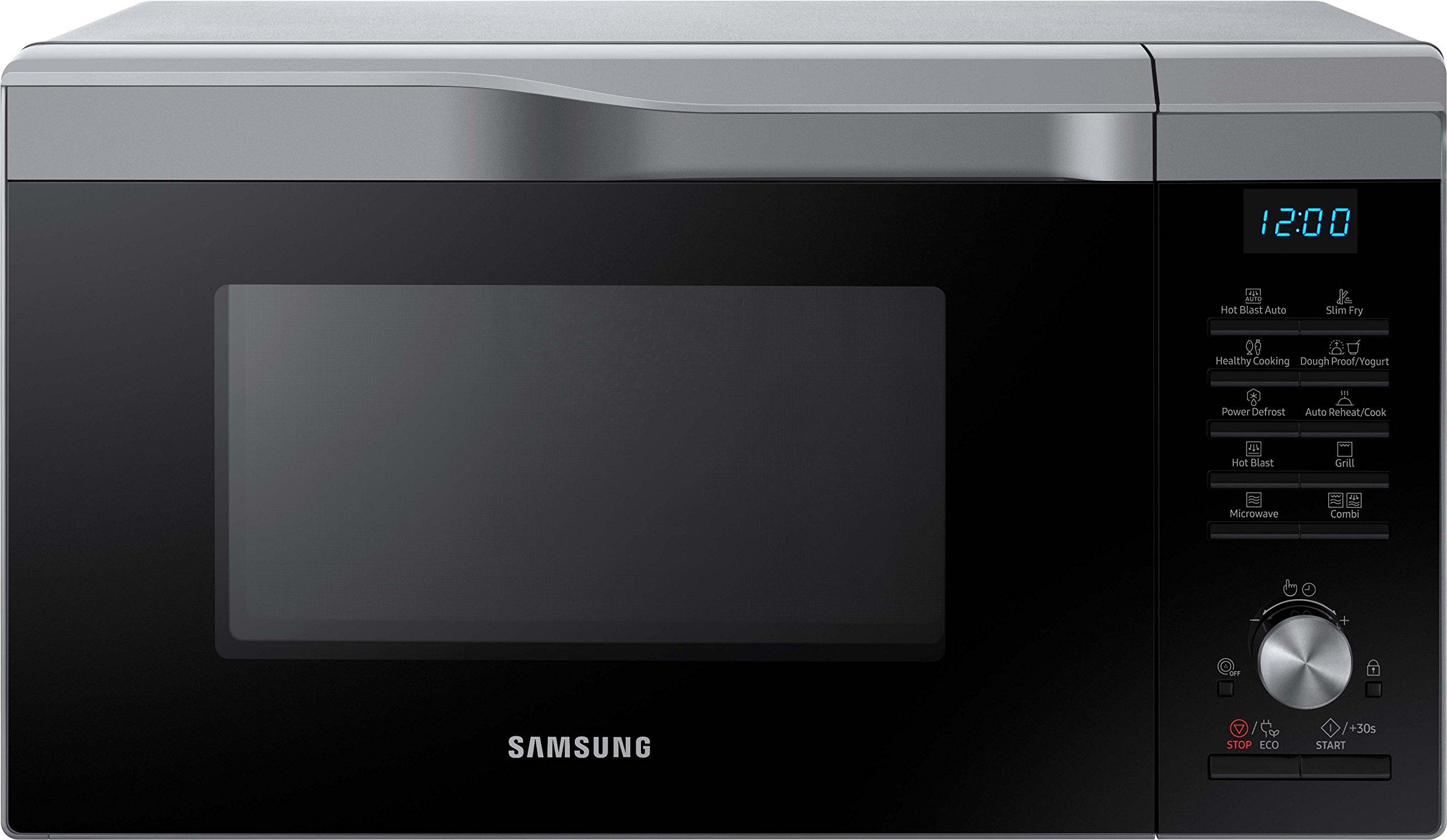 Samsung MC28M6035CS/EG Kombi-Mikrowelle mit Grill und Heißluft, 900 Watt, 28 Liter, silber
